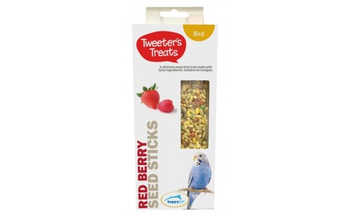 TWEETER'S TREATS ZAADSTICKS PARKIET RODE BESSEN
