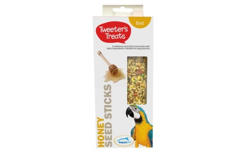 TWEETER'S TREATS ZAADSTICKS PAPEGAAI HONING