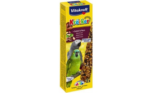 VITAKRAFT PAPEGAAI KRACKER FRUIT/NOOT 2 IN 1