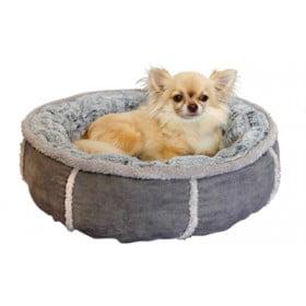 Hondenmand pluche donut grijs (51X51X13 CM)