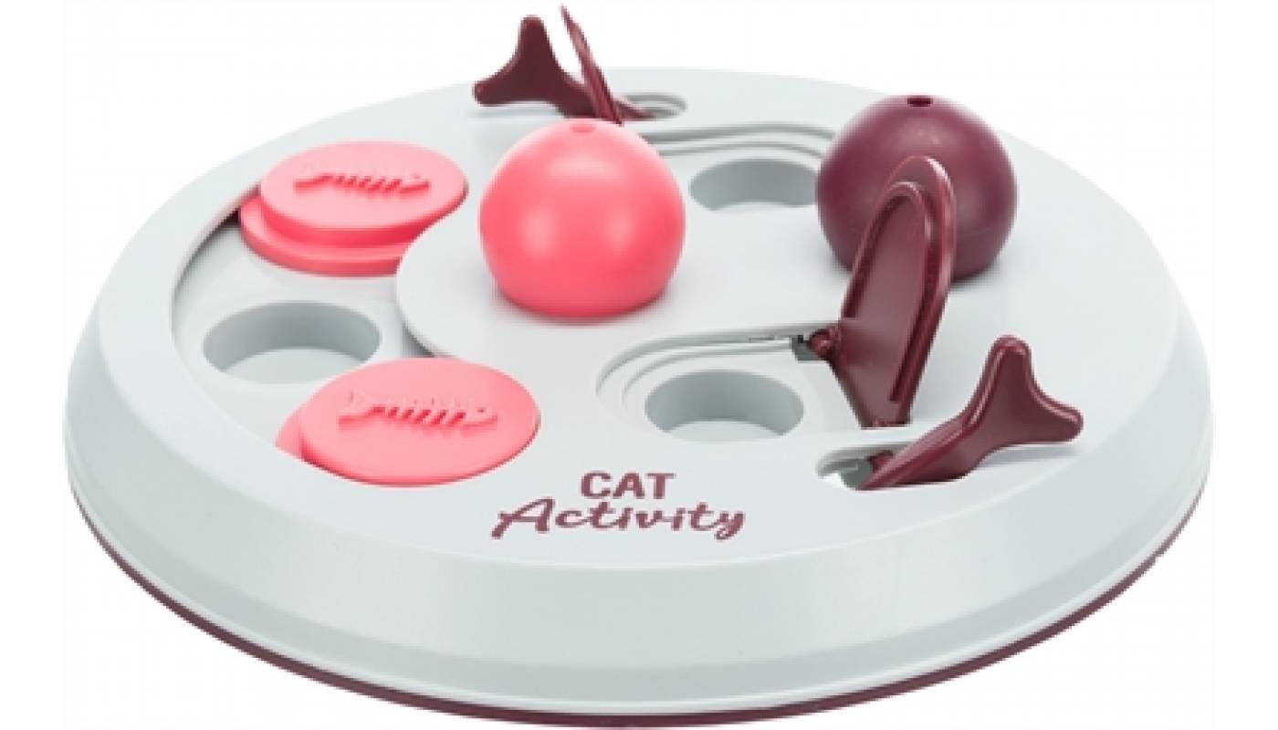 Trixie cat activity flip board bes / roze / lichtgrijs (23X23 CM)